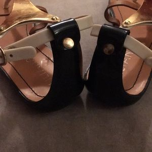 Liliana Shoes - Liliana Abeni Jelly Metal Plated Thong Sandal